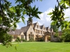 The Jacobean manor of Stanway House in the Cotswold village of Stanway, Gloucestershire, UK