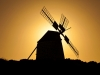 A traditional windmill at Villaverde, NE of La Oliva, on the Canary Island of Fuerteventura