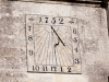 Eighteenth century sundial on St Marys church, Great Witcombe, Gloucestershire
