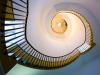 A view up the spiral staircase inside the lighthouse at Southwold, Suffolk