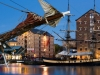 The tall ship Phoenix at the Gloucester Tall Ships '07 Festival in Gloucester Docks at dusk