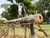 Pit sawing a log at Dedza, Malawi, Africa