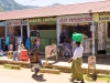 A parade of shops in Dedza, Malawi, Africa