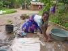 Hand washing clothes in Mombala (Mambala) village, Malawi