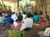 Sunday morning service at the grass hut church in the village of Mombala (Mambala), Malawi, Africa