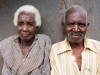 An elderley man and woman (brother and sister) in the village of Mambala, Malawi, Africa