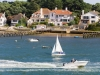 Pleasure boating in Poole Harbour off Sandbanks, Dorset