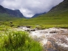 The River Coe flowing through the Pass of Glencoe before descending into Glen Coe at Glencoe, Highland, Scotland
