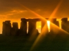 Sunset on 22nd December at Stonehenge, Wiltshire
