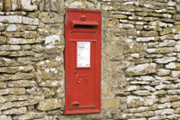 Post box at Coln Rogers